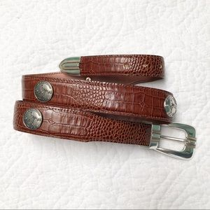 US Open Bethpage Brown Pebbled Leather Belt 32